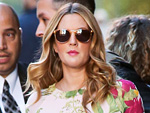 Drew Barrymore, Ted Baker blouse and Sunday Somewhere sunglasses