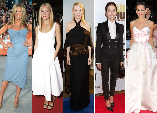 Jennifer Aniston, Gwyneth Paltrow, Cate Blanchett, Jessica Biel and Sarah Jessica Parker