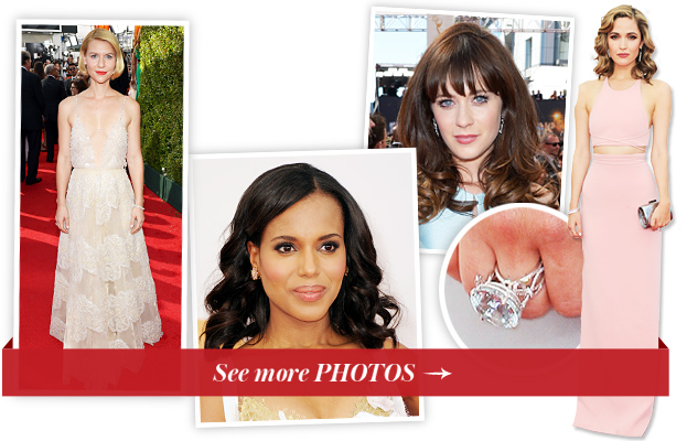 Claire Danes, Kerry Washington, Zooey Deschanel and Rose Bryne