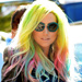 Ke$ha Unveils Rainbow Highlights! Do You Like Her New Look?