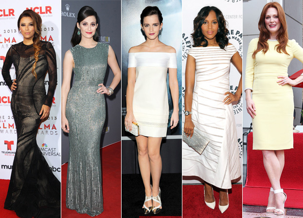 Eva Longoria, Emmy Rossum, Emma Watson, Kerry Washington, Julianne Moore