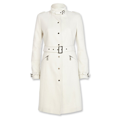 River Island white trench