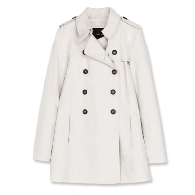 Zara white trench