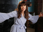zooey deschanel blue robe
