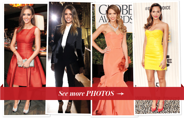 Jessica Alba best dresses gowns red carpet style