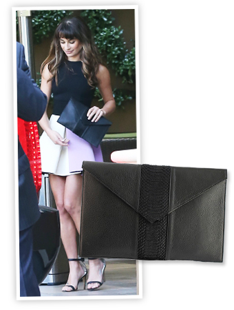 Lea Michele and Donatienne Clutch