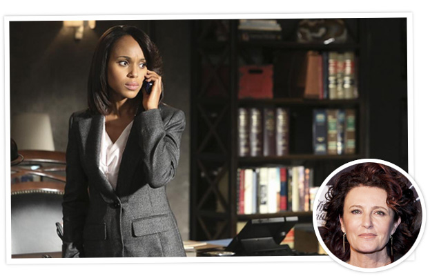 Kerry Washington in Scandal and Lyn Paolo