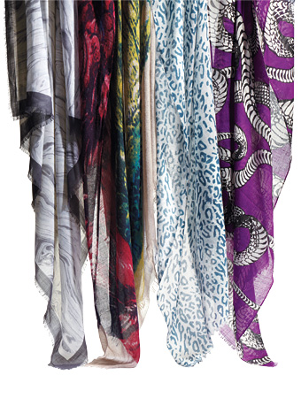 Nature-Print Scarves