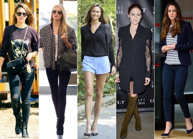 Jessica Alba, Rosie Huntington-Whiteley, Stacy Keibler, Olivia Palermo and Kate Middleton