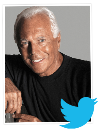 Giorgio Armani InStyle Twitterview