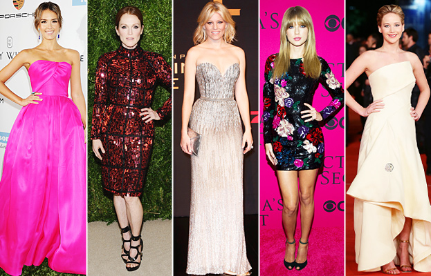 Jessica Alba, Julianne Moore, Elizabeth Banks, Taylor Swift, Jennifer Lawrence