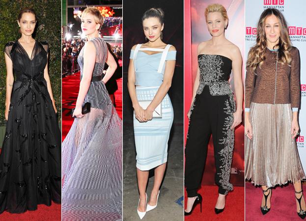 Angelina Jolie, Jennifer Lawrence, Miranda Kerr, Elizabeth Banks and Sarah Jessica Parker