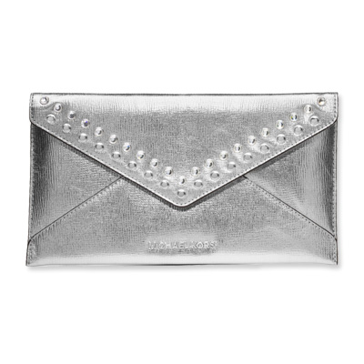 Jeweled Jet Set Travel Envelope Clutch - MICHAEL Michael Kors