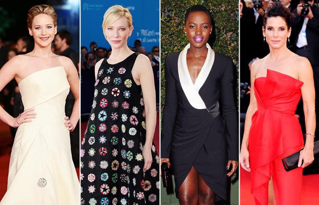 Jennifer Lawrence, Cate Blanchett, Lupita Nyong'o, and Sandra Bullock