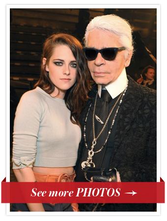 Kristen Stewart & Karl Lagerfeld