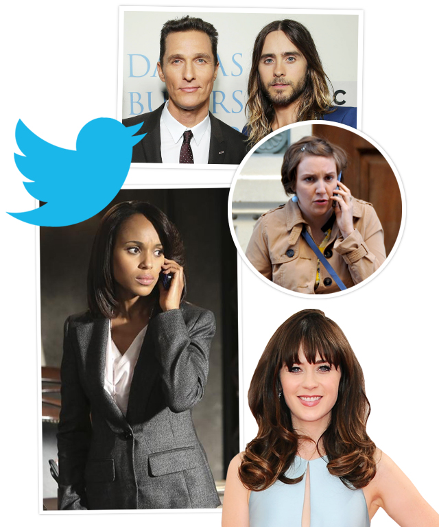 Matthew McConaughey, Jared Leto, Kerry Washington, Lena Dunham, and Zooey Deschanel