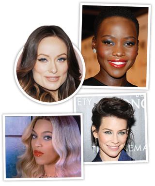 Blue Eye Shadow - Beyoncé - Olivia Wilde - Lupita Nyong'O - Evangeline Lily