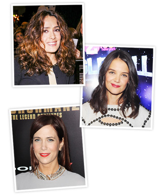 New Hair 2013 - Katie Holmes - Salma Hayek - Kristen Wiig