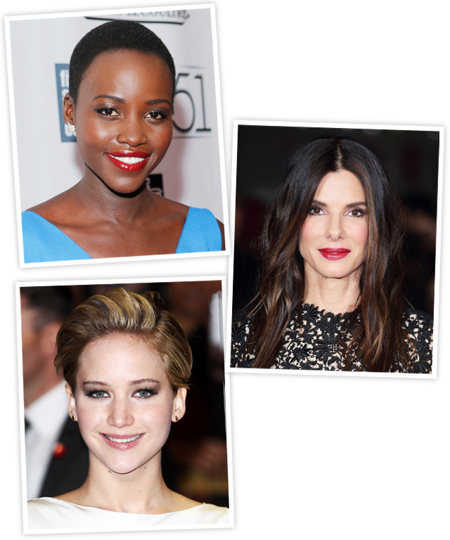 Lupita Nyong'o, Sandra Bullock and Jennifer Lawrence