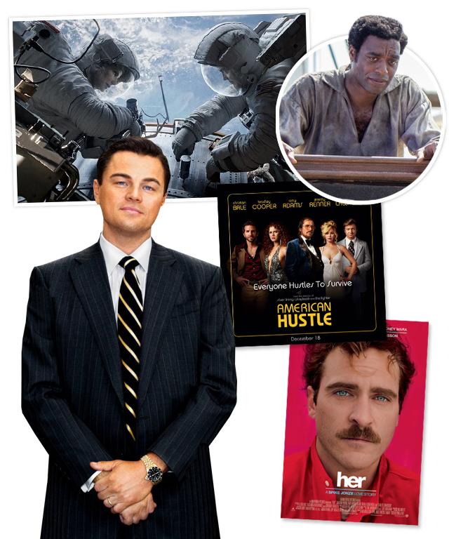 Leonardo DiCaprio, 12 Years a Slave, American Hustle, Her, Gravity