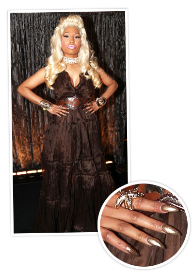 Nicki Minaj 2012 Crazy Manicures At The Grammys