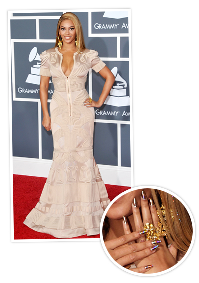 Beyonce 2010 Crazy Manicures At The Grammys InStylecom