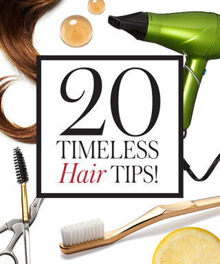 20 Timeless Hair-Care Tips - Your Toothbrush: A No-Fuss Flyaway Fix