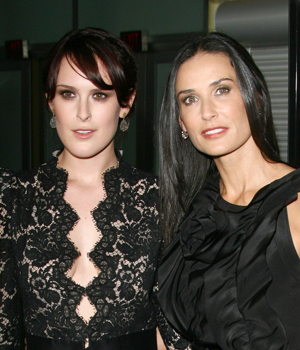 Rumer Willis and Demi Moore - Famous Mother Daughter ...
