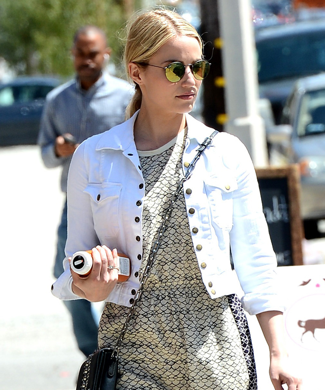 Celebrities in Denim Jackets