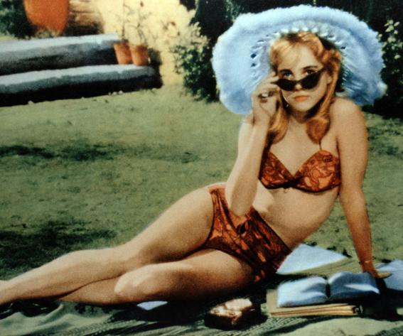 Sue Lyon In Bikini And Blue Hat In Lolita