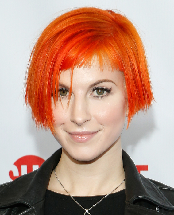 Hayley Williams Blue And Orange Hair