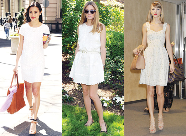 Street Style Stars: Little White Dresses