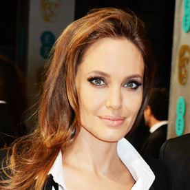 Long Celebrity Hairstyles - Angelina Jolie