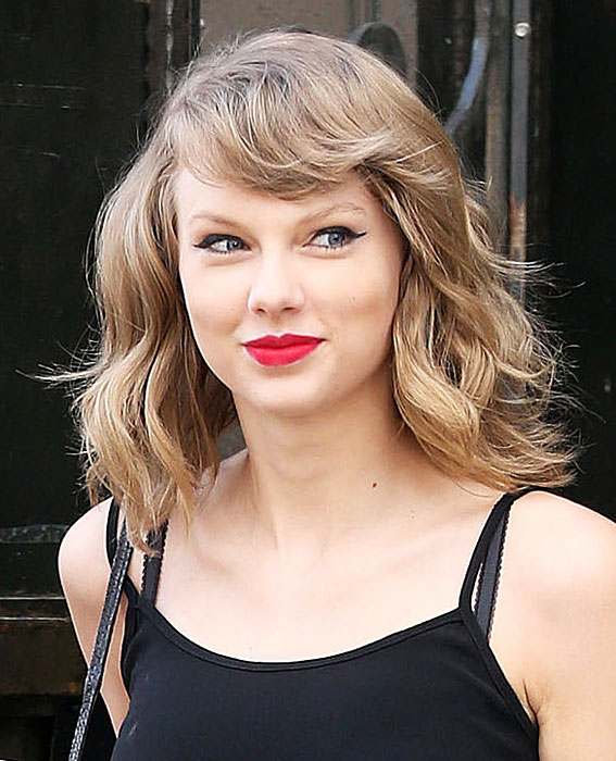 taylor swift short curly celebrity hairstyles instylecom