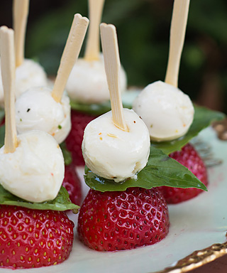 Strawberry Caprese Appetizers - The Forest Feast
