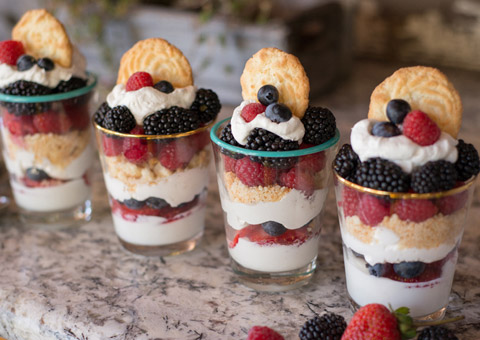 Red, White, and Blue Berry Parfaits - The Forest Feast