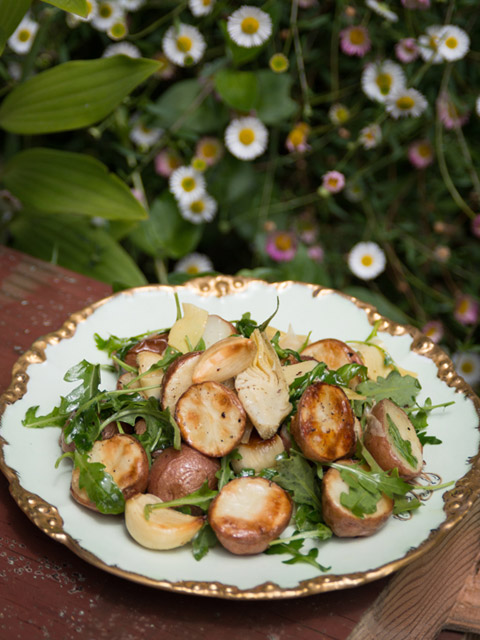 Artichoke Potato Salad - The Forest Feast