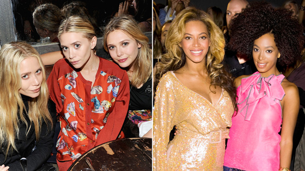 Mary Kate, Ashley, Elizabeth Olsen and Beyonce and Solange Knowles