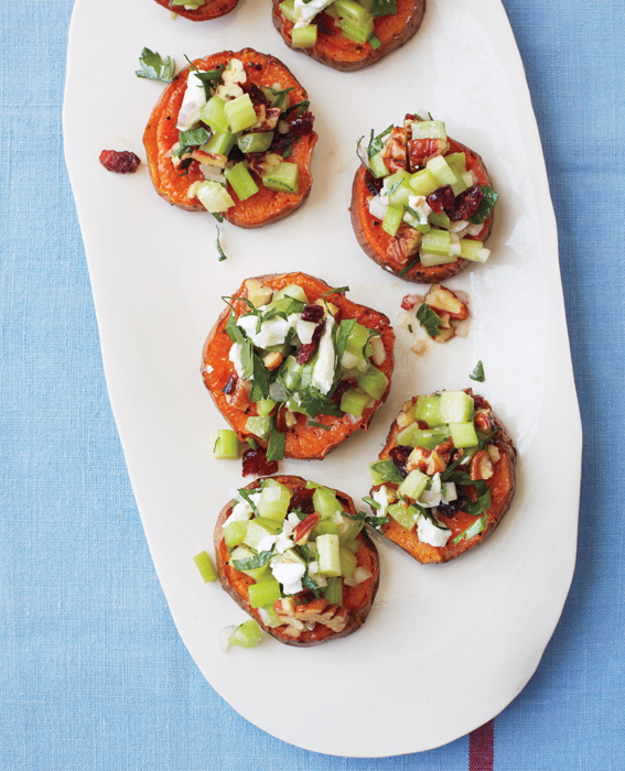 Sweet Potatoes with Pecans, Goat Cheese, and Celery - Our Favorite ...