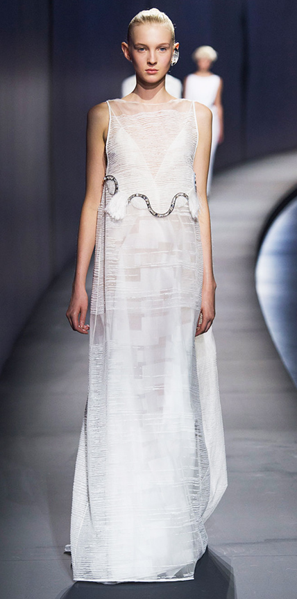 fashion spring runway looks double wedding dresses