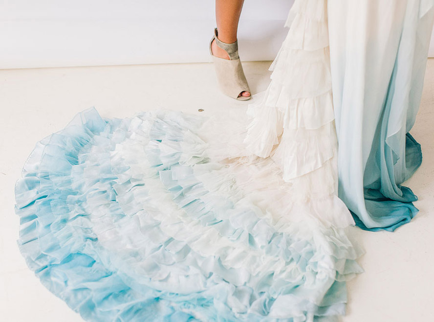 Weddings for Ocean themed wedding dress