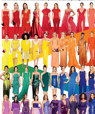 Style 100: The Best Looks and Trends of 2014 - No.1-7. Red-Carpet Rainbow