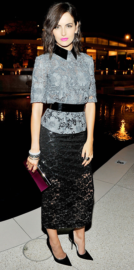 Camilla Belle in Monique Lhuillier