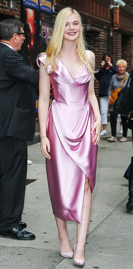 Elle Fanning in Vivienne Westwood