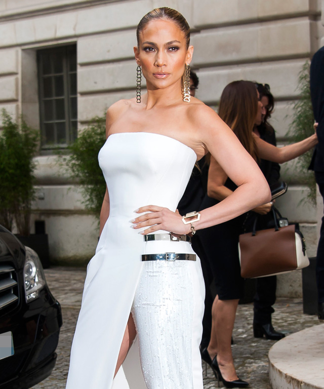 Jennifer Lopez at Atelier Versace fall 2014
