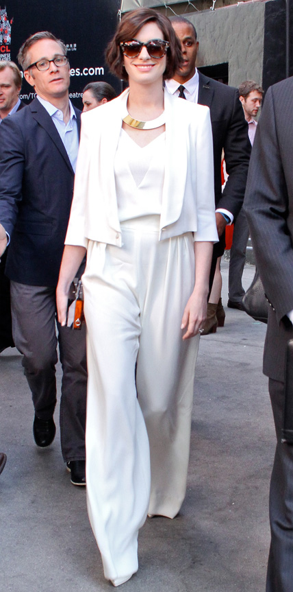 Anne Hathaway in Max Mara