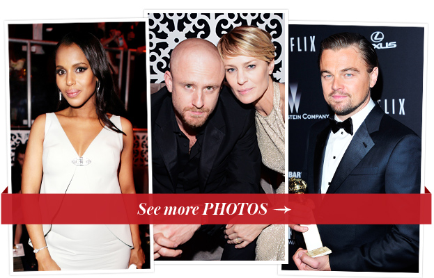 Kerry Washington, Ben Foster, Robin Wright, and Leonardo DiCaprio