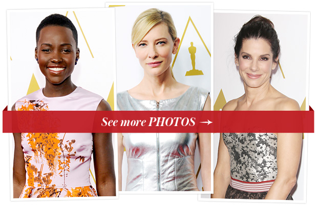 Lupita Nyong'o, Cate Blanchett, and Sandra Bullock