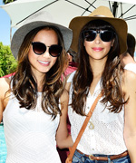 Jamie Chung and Hannah Simone; Emmy Rossum and Fergie