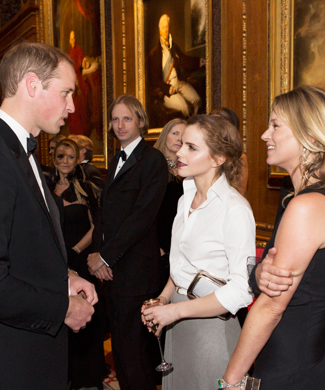Prince William, Emma Watson, Kate Moss